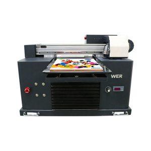 Specifikacije Upotreba: Kartica pisača za kartice Tip: Flatbed Printer Stanje: Novo Dimenzije (L * W * H): 65 * 47 * 43 CM Težina: 62kg Automatska Razina: Automatski Napon: AC220 / 110V Jamstvo: 1 godina Ispis Dimenzija: 16.5x30 CM , A4 VELIČINA Tinta: LED UV tintni proizvodi naziv: Mali pisač A4 veličina Digitalni tiskarski stroj UV Flatbed Printer tinta: LED UV tinta Visina: 0-50mm Tintni sustav: CISS sustav Boje tinte: CMYKWW Broj mlaznica: 90 * 6 = 540 Softver za ispis: WINDOWS SYSTEM EXCEPT WIN 8 Voltage :: AC220 / 110V Bruto snaga: 30W