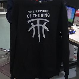 Ispis crnog džempera od tiskare A2 WER-D4880T