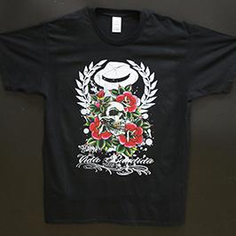 Crni uzorak za tisak majica od strane digitalnog tekstilnog pisača A1 WER-EP6090T